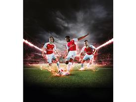 PUMA Launches the 2015-16 Arsenal Home Kit Rosicky Welbeck Ramsey 2