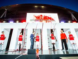 Arsenal first team players launch PUMA's 2015-16 Arsenal Home Kit at Emirates Stadium 1
