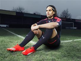 Radamel Falcao wears the new PUMA evoSPEED SL Football Boot_6