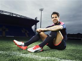 Cesc Fabregas wears the new PUMA evoPOWER 1.2 Football Boot 7