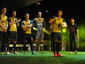 Santi Cazorla is selected to show off his skills at the Arsenal Away Kit Launch in Singapore