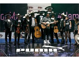 Lewis Hamilton gets in the Mexican spirit with Mariachi band at PUMA event in Mexico City