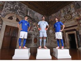 Gabbiadini, Buffon & Astori at the PUMA Italy Home Kit Launch