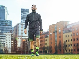 Cesc Fabregas wears the new evoTOUCH boot
