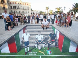 PUMA & FIGC PRESENT NEW ITALY AWAY KIT THROUGH 3D STREET ART
