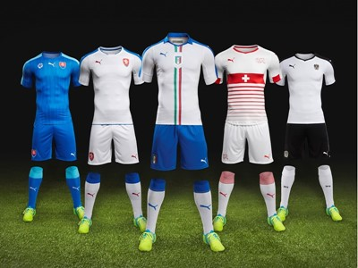 PUMA Launch New European Away Kits in Preparation for Euro 2016™