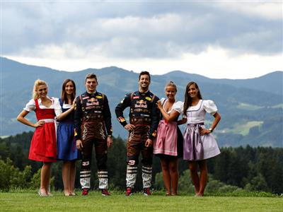 RED BULL RACING  DRIVERS HIT AUSTRIA WITH DISTINCT LOCAL LOOK