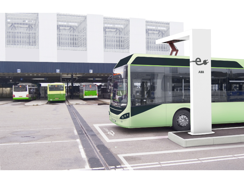 ABB automated electric Volvo bus-charger