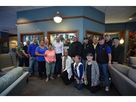 Bill Cowher Visits Hope Lodge