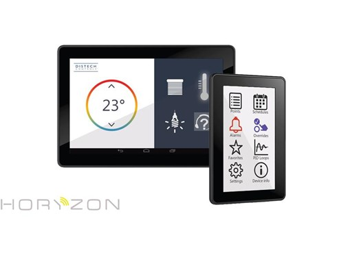 HORYZON-C Color Display from Distech Controls Allows Users to View and Access All Comfort Parameters Within a Space