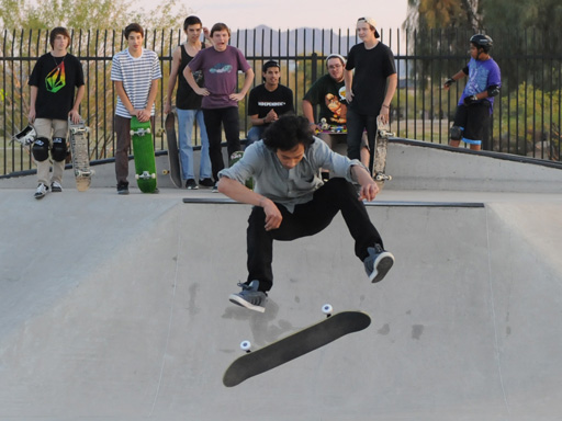 adidas Pro Skateboarders roll into local Phoenix Skate Park alongside kids and capture game faces
