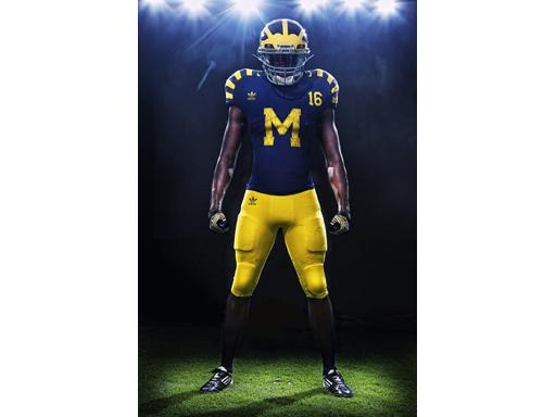 "Michigan adidas ""Under the Lights"" Uniform"