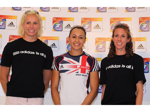 Jennifer Suhr and Jessica Ennis and Morgan Uceny