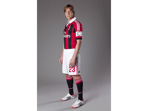 Ambrosini in new adidas A.C. Milan kit