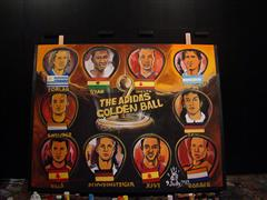 Own the moment: this painting of FIFA 2010 WORLD CUP ADIDAS GOLDEN BALL JULY 9