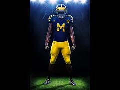 Wolverines and Irish to Wear Special Jerseys for First Night Game at the Big House