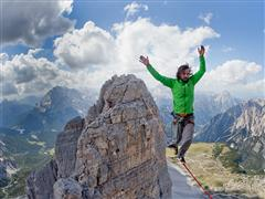 "3 Battlements, 3 Highlines: Reinhard Kleindl and Armin Holzer are First to Highline the ""Tre Cime di Lavaredo"""