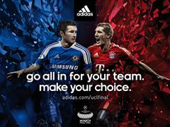 Go all in for your team. Make your choice. adidas UEFA Champions League Finale. Die Kampagne 2012.
