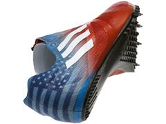 Tyson Gay Wears Personalized Patriotic adizero Prime SP During 100m Races