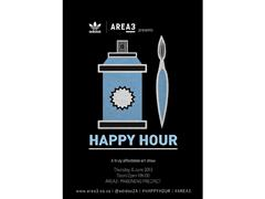 adidas Originals and AREA3 present HAPPY HOUR:  a truly affordable art show