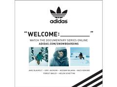 "adidas Snowboarding ""WELCOME:_____""  Online-Video-Serie gewinnt den Transworld Rider`s Poll!"