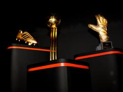 adidas reveal golden ball, golden boot and golden glove trophies for 2014 FIFA World Cup Brazil