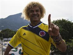 Valderrama hails James Rodriguez as next Colombian ´Pibe´ during press conference at posto adidas