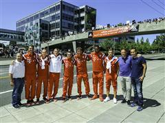 adidas Employees Welcome Bayern Munich's World Cup Stars to Portland