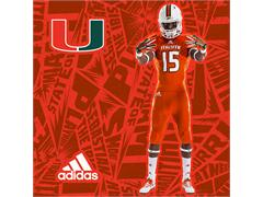 The University of Miami & adidas Unveil Hurricanes' New Football Uniforms