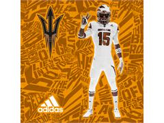 Arizona State & adidas Unveil New 'Desert Ice' Alternate Football Uniforms