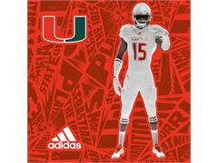 The University of Miami & adidas Unveil New 'Miami '305 Ice' Alternate Football Uniforms