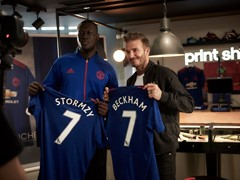David Beckham is United with Famous Fan Stormzy at New-Look adidas Store on Oxford Street