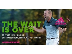 adidas Celebrates Sergio Garcia's First Major