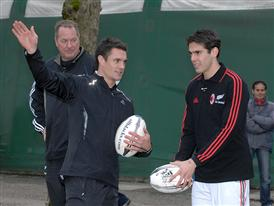 Dan Carter with Kaka