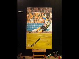 FIFA 2010 WORLD CUP ADIDAS GOLDEN GLOVES PAINTING-1 JUNE 23