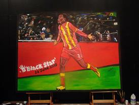 Own the moment: this painting of FIFA 2010 WORLD CUP ADIDAS BLACK STAR JUNE 26 captures the spirit of the players and can be yours.