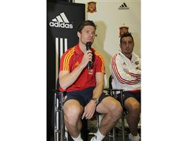 2010 FIFA World Cup Champions Xabi Alonso and Santiago Cazorla of Spain Answers Fan Questions at an adidas event at WeGo