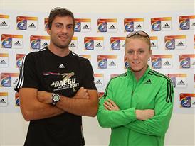 Mitchell Watt (Long jump, AUS) and Sally Pearson (100m Hurdles, AUS)