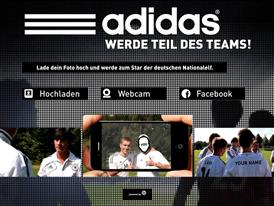 Homepage of news.adidas.com/dfb