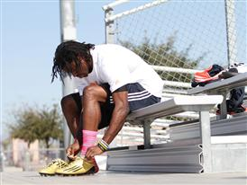 Robert Griffin III preparing to train in the adizero 5-Star Low