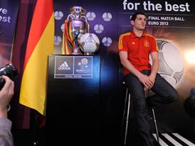 Spanish captain Iker Casillas with the adidas Tango 12 Finale