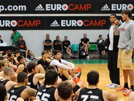 Danilo Gallinari and Nicolas Batum - adidas Eurocamp 2012 - Day 3
