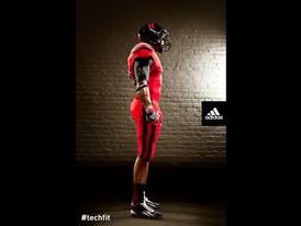 Nebraska TECHFIT Uniform Side