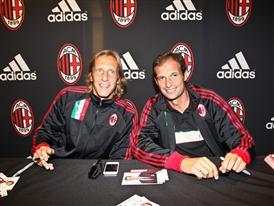 AC Milan midfielder Massimo Ambrosini and manager Massimiliano Allegri