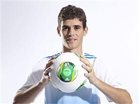 Oscar displays the Confederations Cup 2013 Official Match Ball