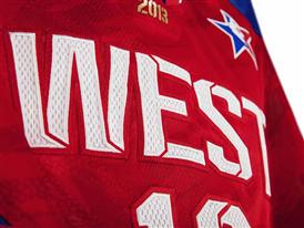 adidas NBA All-Star WEST Jersey Detail 3