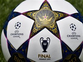 Close up of the design for the adidas UCL Wembley Finale OMB