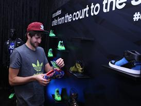 Ricky Rubio of Minnesota Timberwolves at adidas VIP Suite 2