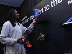 Kenneth Faried of Denver Nuggets at adidas VIP Suite  2