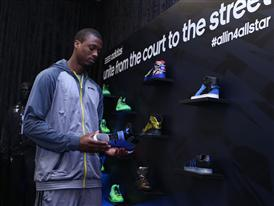 Harrison Barnes of Golden State Warriors adidas VIP Suite 2